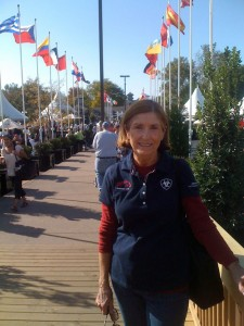 VSS' Linda enjoying the World Equestrian Games, Lexington KY 2010