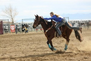 Meg showing how to rodeo!